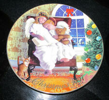 "Avon Christmas 1997 Collector Plate ""Heavenly Dreams"" 22K Gold Trimmed"