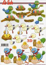 3D Bogen Motivbogen Etappenbogen Bastelbogen Ostern Vogel Vögel (250)