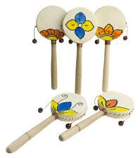 Tambor de mano en madera Sonido de timbales tambores Pintado a mano artesanal