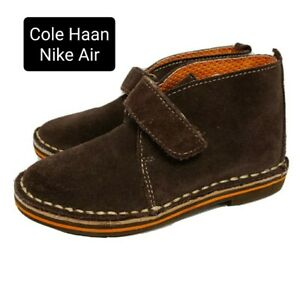 Cole Haan Nike Air Paul Toddler Boys Size 8 Brown Suede Chukka Boots 8c Shoes
