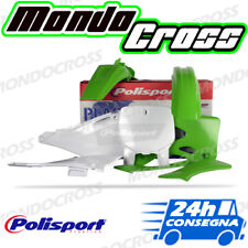 Kit plastiche cross mx POLISPORT Verde Bianco KAWASAKI KX 125 2001 (01)!