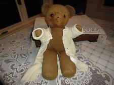 Antique Brown Teddy Bear in Old Saxony Brand Sweater 18 in