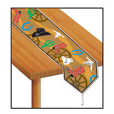 Wild West Cowboy PRINTED WESTERN Paper TABLE RUNNER Party Decoration DESERT