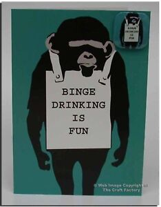 Binge Drinking Is Fun Card + Badge - MonkeySign MSB001 - Blank Card