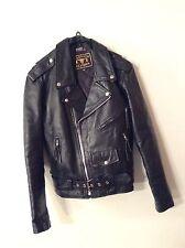 Vintage Barneys Black Leather Motorcycle Jacket Thinsulate Size 40