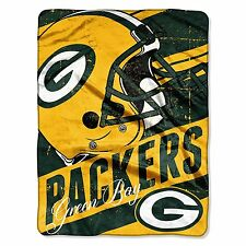 NFL Green Bay Packers PLUSH FLEECE BLANKET Tailgating Game Lap Bed Throw 4x5ft