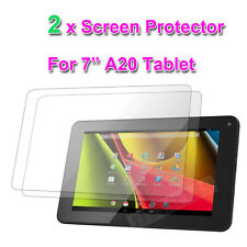 """2 x Full SCREEN PROTECTOR FOR A13 ALLWINNER 7"""" INCH CAPACITIVE ANDROID TABLET PC"""