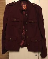 Tory Burch Sgt Pepper Jacket In Plum- Size 12- Retail $495