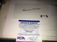 Herman Keiser 1946 Masters Champ   Signed 3x5 index Card PSA DNA