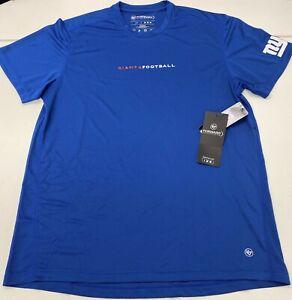 NWT New York Giants 47 Forward Brand Tee T shirt NY NFL Big Blue SZ LARGE L