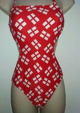 Red/White Monokini size 8~NWT