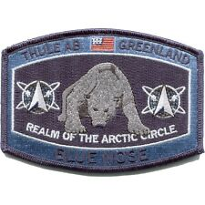 USAF Thule Air Force Base Greenland Blue Nose polar bear MILITARY HAT  PATCH