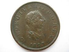 1807 George III Halfpenny, VF.