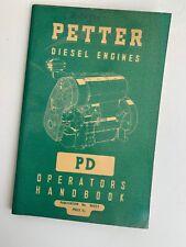 Petter Diesel Engine PD Handbook No.8023/1