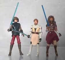STAR WARS FIGURE 2008 ANIMATED CLONE WARS OFFICIAL STANDS X10 LOT COLLECTION