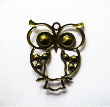 Metal Charms Filigree Owl 52x42mm antique Bronze Pkt 2 or 4