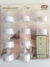 10 LED Teelichter Warmweiß Fernbedienung Kerzen Beleuchtung Weihnachten Winter