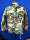 Vintage US Military M65 Medium Short Woodland Camouflage Field Jacket & Liner
