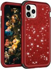 Glitter RED Iphone 11PRO 5.8in Phone Case Cover Hard Shell Full Body Protection