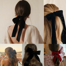 Women Fashion Barrettes Big Bow Knotted Velvet Hair Clip Hair Accessories