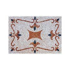 Rosoni tappeto mosaico in marmo su rete per interni esterni 80x120 T-15
