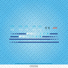 Peugeot Bicycle Decals - Transfers - Stickers - Blue - Set 559
