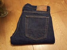 MENS VINCE RED LINE SELVEGE 5 POCKET BUTTON FLY RIGID JEANS 30 X 31 VERY NICE!