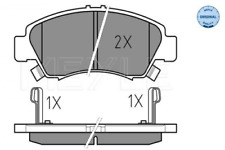 Bremsbelagsatz, Scheibenbremse für Bremsanlage Vorderachse MEYLE 025 216 9715/W