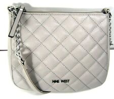 NINE WEST Women's Quilter Crossbody Bag Dove MM Purse NWT
