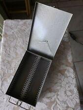 VINTAGE METAL COIN TOKEN STORAGE FILE HOLDER * HOLDS 50 2X2 CARDBOARD SLABS  (B)