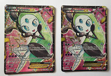Pokemon TCG 2x Meloetta EX Full Art Legendary Treasures RC25/RC25