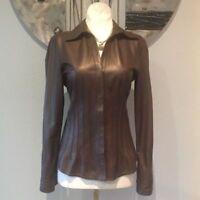 Women & Girls 100% Genuine Lambskin Leather New style Shirt slim fit