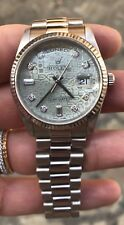 Rolex Day-Date diamanti diamonds oro gold white 118239