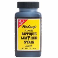 Fiebing's Acrylic Antique Leather Stain Finish 4 oz - 5 Colors