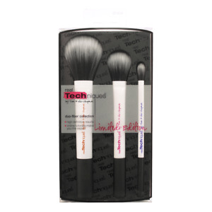 REAL TECHNIQUES DUO FIBER MAKEUP BRUSHES FACE CONTOUR EYE BRUSH CHOICE OF STYLE