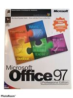 Microsoft Office 97 Professional Edition Full Version CD New Sealed Retail Box