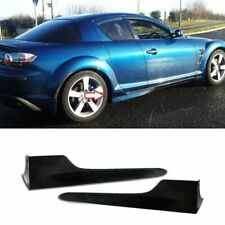 For 04-10 MAZDA RX8 RX-8 REAR PERFORMANCE PLASTIC SIDE SKIRT ADD-ON KIT 2PCS