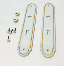 Anciennes plaques de propreté en porcelaine  pour porte An 40's 30's 50's - 3