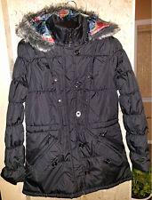New Women Puffer Black Blue Jacket Fur Hoody Winter Different size