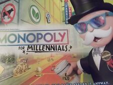 Monopoly for Millennials Millenials Board Game Ages 8+ New HTF
