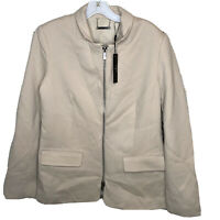 Tahari Womens Blazer Jacket Size 10 Long Sleeve Full Zipper Lined NWT
