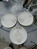 Bread Plates Sebring Pottery 22K Gold trim 7 1/4 set of 3