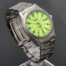For Night Glow Dial SOKI Mens Analog Date Quartz Stainless Steel Band Watch