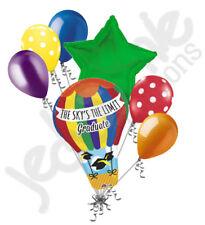 7 pc Sky's the Limit Hot Air Balloon Grad Bouquet Party Decoration Graduation