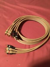 New listing 6' Ft 3 Rca Component Cable Video Audio Ivory Python Double Shielded Home