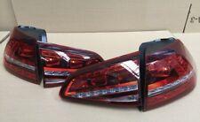 GENUINE VW GOLF 'R' MK 7 + 7.5 R DESIGN TINTED SMOKED LED REAR TAIL LIGHTS SET