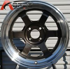 ROTA GRID-V 15X8 +0 GUN METAL 4X100 FIT JDM CIVIC MIATA INTEGRA WILD BODY WHEEL