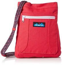 Kavu KEEPALONG BAG Shoulder Travel Cotton Canvas Crossbody Bag PEONY PINK NWT!
