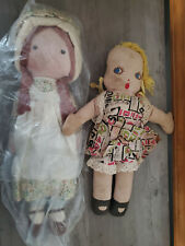 Lot of 2 Large Cloth Dolls