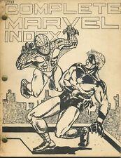 The Complete Marvel Index Rare 1970 Fanzine